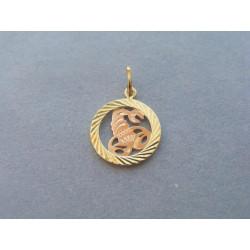 Zlatý prívesok znamenie škorpión žlté červené zlato DI099V 14 karátov 585/10000,99g