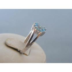 Zlatý dámsky prsteň biele zlato zirkóny DP53235B 14 karátov 585/1000 2,35g