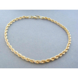 Zlatý dámsky náramok  točený žlté zlato DN195172Z 14 karátov 585/1000 1,72g
