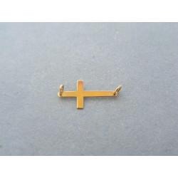 Zlatý prívesok krížik žlté zlato hladký DI013Z  14 karátov 585/1000 0,13g