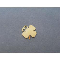 Zlatý dámsky prívesok štvorlístok žlté zlato DI025Z 14 karátov 585/1000 0,25g