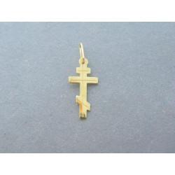 Zlatý prívesok krížik pravoslávny DI038Z 14 karátov 585/1000 0,38g