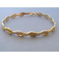Zlatý dámsky náramok vzorovaný biele žlté zlato DN19489V 14 karátov 585/1000 4,89g