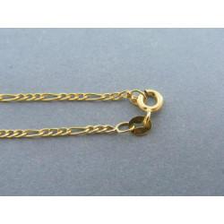 Zlatá retiazka vzor figaro žlté zlato DR42101Z 14 karátov 585/1000 1,01g