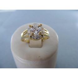 Dámsky prsteň žlté zlato  zirkóny 14karátov 585/1000 3,34g