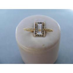 Dámsky prsteň zo žltého zlata zirkóny 14 karátov 585/1000 2,13g