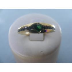 Prsteň zo žltého zlata zirkóny 14karátov 585/1000 2,41g