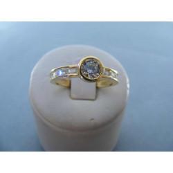 Dámsky prsteň zo žltého zlata zirkóny 14 karatov 585/1000