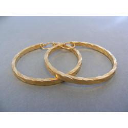 Dámske naušnice žlté zlato kruhy vzorované DA476Z 14 karátov 585/1000 4,76 g