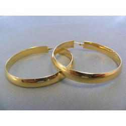 Dámske naušnice žlté zlato kruhy DA563Z 14 karátov 585/1000 5,63 g