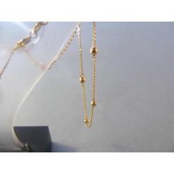Dámska retiazka žlté zlato guličky VR45219Z 585/1000 2,19 g
