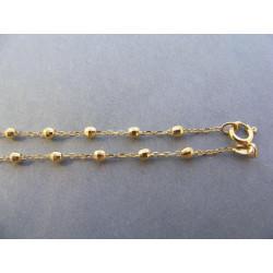 Dámsky zlatý náhrdelník Ruženec DR60447Z 14 karátov 585/1000 4,47 g