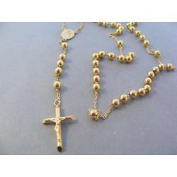 Zlatý náhrdelník ruženec DR601234Z 14 karátov 585/1000 12,34 g