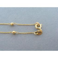 Dámska zlatá retiazka vzor guľôčky DR50244Z 14 karátov 585/1000 2,44 g