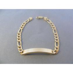 Zlatý náramok platnička žlté zlato VN20656Z 14 karátov 585/1000 6,56 g