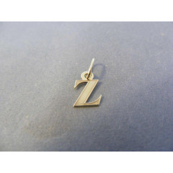 Zlatý prívesok žlté zlato písmeno DI018Z 14 karátov 585/1000 0,18 g