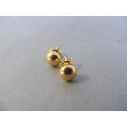 Dámske zlaté naušnice napichovačky žlté zlato DA109Z 14 karátov 585/1000 1,09 g