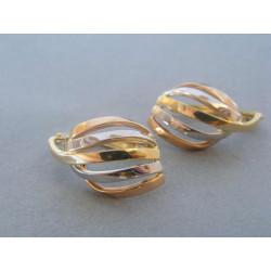 Zlaté dámske náušnice viacfarebné zlato DA331V 585/1000 14 karátov 3,31 g