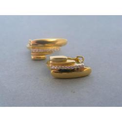 Zlaté dámske náušnice žlté zlato DA332Z 585/1000 14 karátov 3,32 g