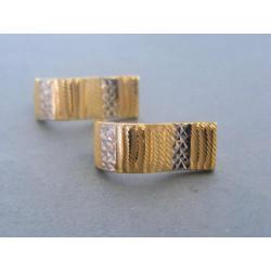 Zlaté dámske náušnice viacfarebné zlato DA263V 585/1000 14 karátov 2,63 g