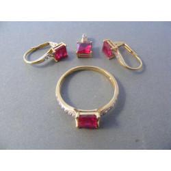 Dámska zlatá súprava zirkón VS518Z 585/1000 14 karátov 5,18 g