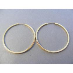 Dámske zlaté naušnice kruhy žlté zlato DA4Z  14 karátov 585/1000 4,0 g