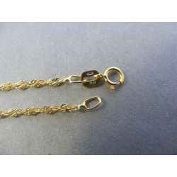 Dámska zlatá retiazka točená žlté zlato DR45171Z 14 karátov 585/1000 1,71 g