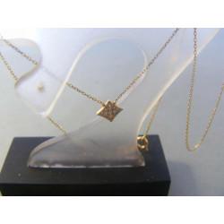 Zlatá retiazka dámska Selebritka s príveskom žlté zlato zirkóny VR445125Z 14 karátov 585/1000 1,25 g