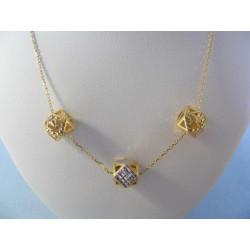 Zlatá dámska retiazka ozdobná viacfarebné zlato VR45281V 14 karátov 585/1000 2,81 g