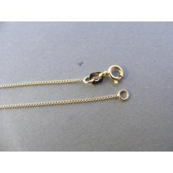 Zlatá retiazka DR50170 Z žlté zlato 585/1000 14 karátov 1,70 g