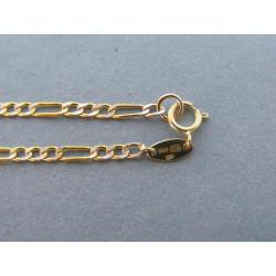Zlatá retiazka viacfarebné zlato VR49224V 14 karátov 585/1000 2,24 g