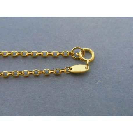 Zaujímavá zlatá retiazka VR50195Z žlté zlato 14 karátov 585/1000 1,95 g