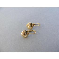 Detské zlaté naušnice Srdiečka hladké DA095Z žlté zlato 14 karátov 585/1000 0,95 g