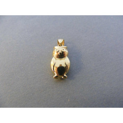 Zlatý prívesok Sovička DI086Z žlté zlato 14 karátov 585/1000 0,86 g