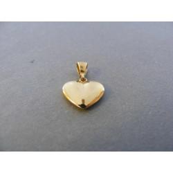 Dámsky zlatý prívesok Srdiečko hladký DI164Z žlté zlato 14 karátov 585/1000 1,64 g