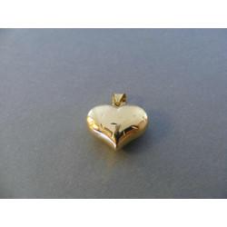 Zlatý prívesok Srdiečko zaujímavý vzor DI120Z žlté zlato 14 karátov 585/1000 1,20 g