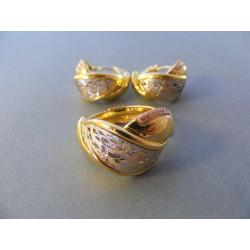 Zlatá dámska súprava prsteň, naušnice značka GRACIELA DS59832V viacfarebné zlato 14 karátov 585/1000 8.32 g