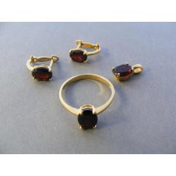 Zlatá dámska súprava prívesok, naušnice prsteň zirkón VS56524Z žlté zlato 14 karátov 585/1000 5,24 g