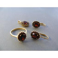 Zlatá súprava dámska prívesok, naušnice, prsteń prírodný kameň VS59767Z žlté zlato 14 karátov 585/1000 7,67 g