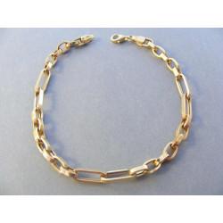 Masívny zlatý pánsky náramok DN21453Z žlté zlato 14 karátov 585/1000 4,53 g