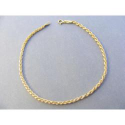 Dámsky zlatý náramok točený vzor DN18083Z žlté zlato 14 karátov 585/1000 0,83 g