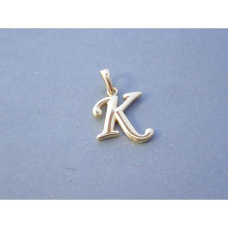 Zlatý prívesok písmenko K VI068Z žlté zlato 14 karátov 585/1000 0,68 g