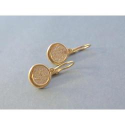 Zlaté naušnice detské žlté zlato zirkóny VA158Z 14 karátov 585/1000 1,58 g