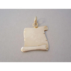 Zlatý prívesok List Pergamon hladký povrch VI192Z žlté zlato 14 karátov 585/1000 1,92 g
