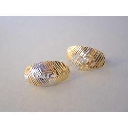 Zlaté dámske naušnice vzorované viacfarebné zlato DA180V 14 karátov 585/1000 1,80 g