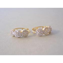 Dámske zlaté naušnicše malé kružky zirkóny DA230Z žlté zlato 14 karátov 585/1000 2,30 g