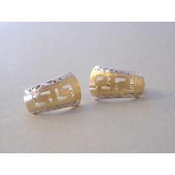 Zlaté dámske naušnice vzorované DA143V viacfarebné zlato 14 karátov 585/1000 1,43 g