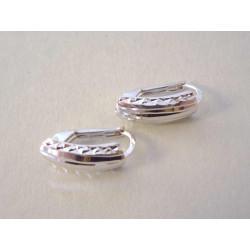 Dámske zlaté naušnice vzorované biele zlato VA157B 14 karátov 585/1000 1,57 g