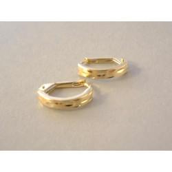 Jemné dámske zlaté naušnice vzorované žlté zlato VA156Z 14 karátov 585/1000 1.56 g