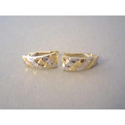 Zaujímavé zlaté naušnice dámske VA133V viacfarebné zlato 14 karátov 585/1000 1,33 g